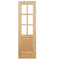 Puerta de paso recta madera vitrina en pino marítimo