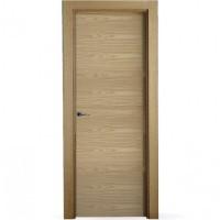 Puerta lisa roble horizontal